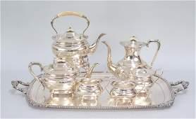 English Sterling Silver 6 Piece Tea Set