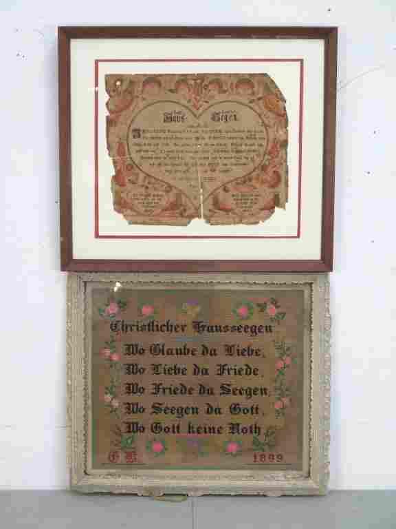 2 German Folk Art Items