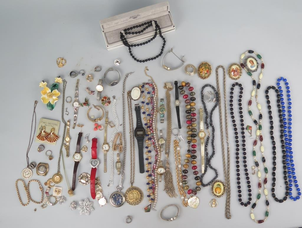 Assorted Costume Jewelry and Fortunoff Necklace