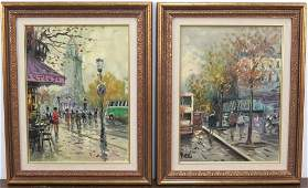 2 Modern French School Oils on Canvas