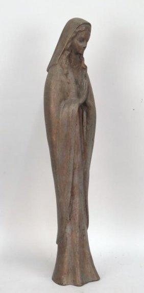 Bronze Figure Of Praying Madonna