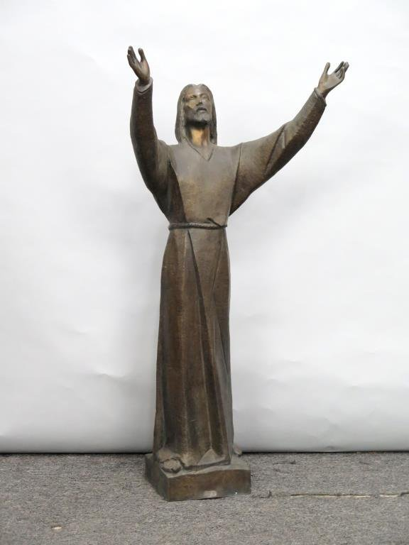 Chirico Bronze - Christ with Outstretched Arms