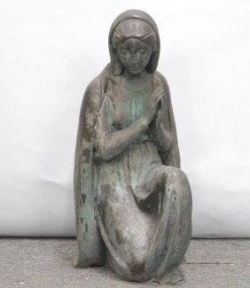 Bronze - Praying Kneeling Madonna