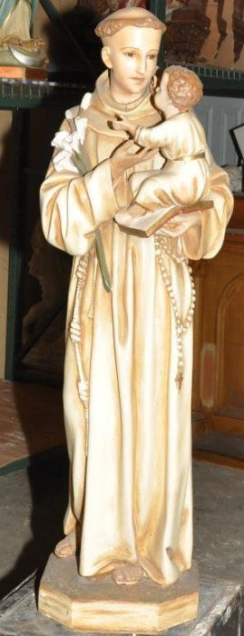 Plaster Statue Of St Anthony