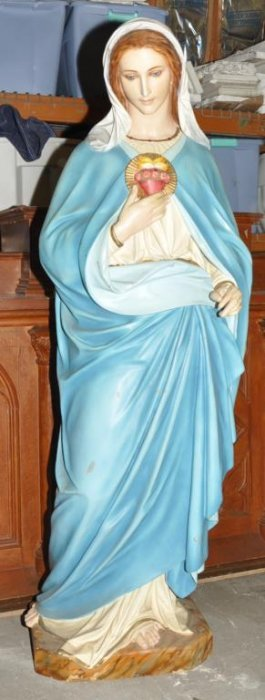 Large Heavy Plaster Statue Of Mary.