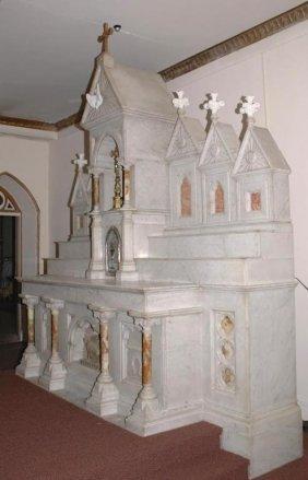 Large Antique Italian Marble Altar