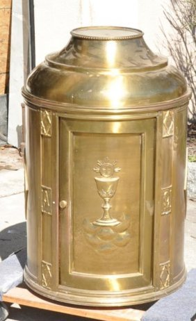 Huge Vintage Bronze Tabernacle