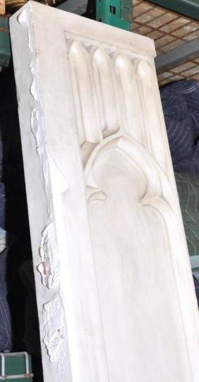 Very Tall Antique Italian Marble Church Panel