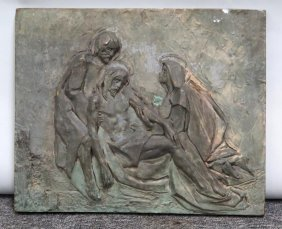 Bronze Plaque - The Deposition