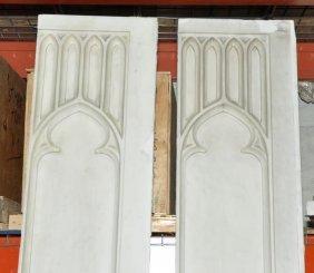 Pair Of Antique Italian Marble Gothic Panels