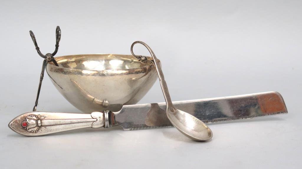 4 Danish Georg Jensen Sterling Silver Articles
