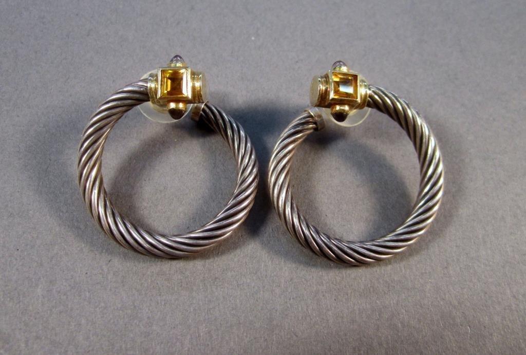 Pair David Yurman Loop Earrings
