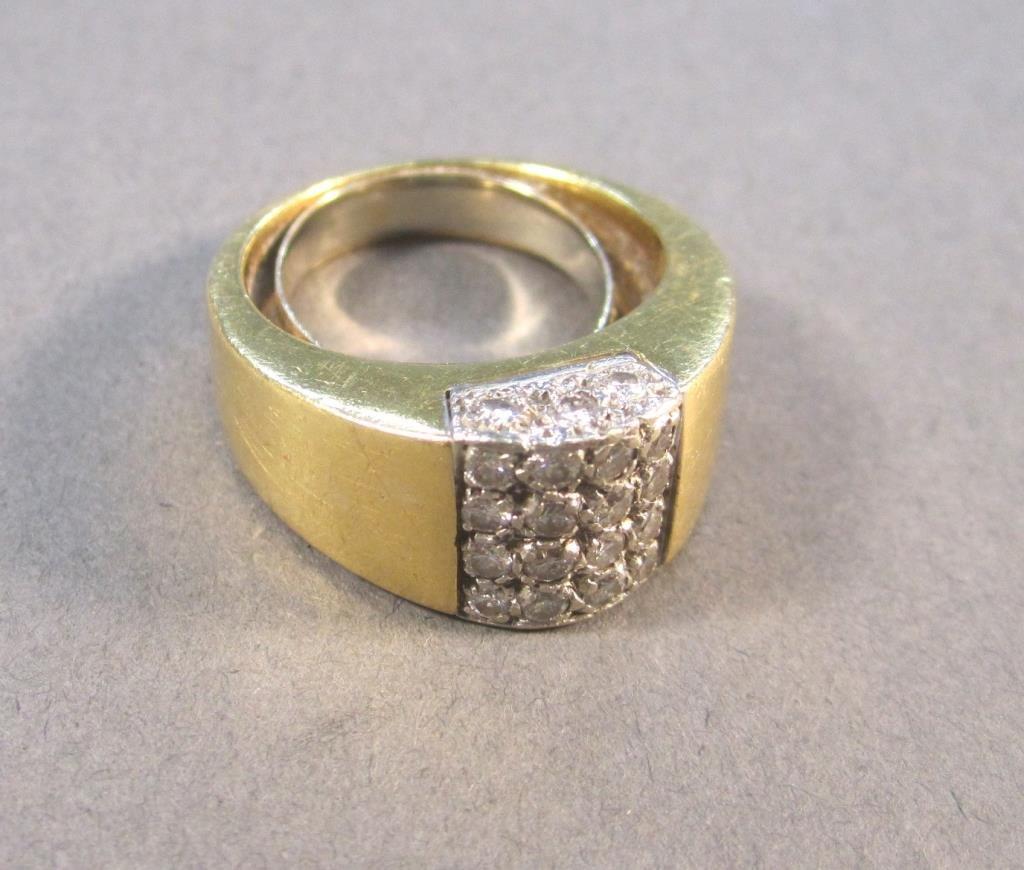 14K Gold and Diamond Man's Ring
