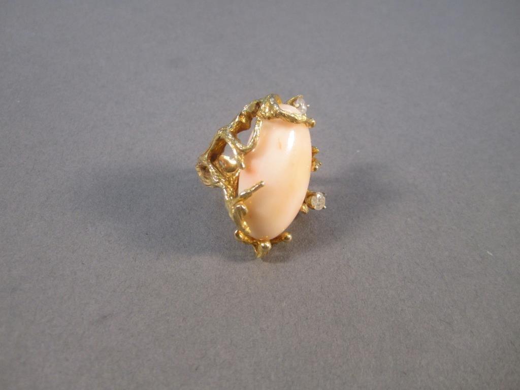 14K Gold Branch Style Ring