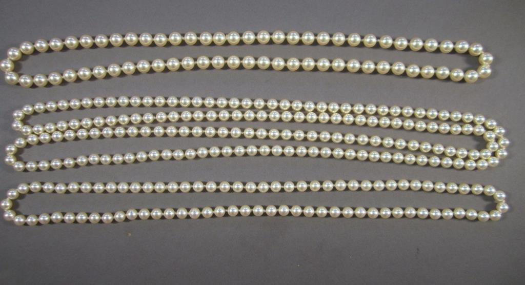 3 Faux Pearl Necklaces