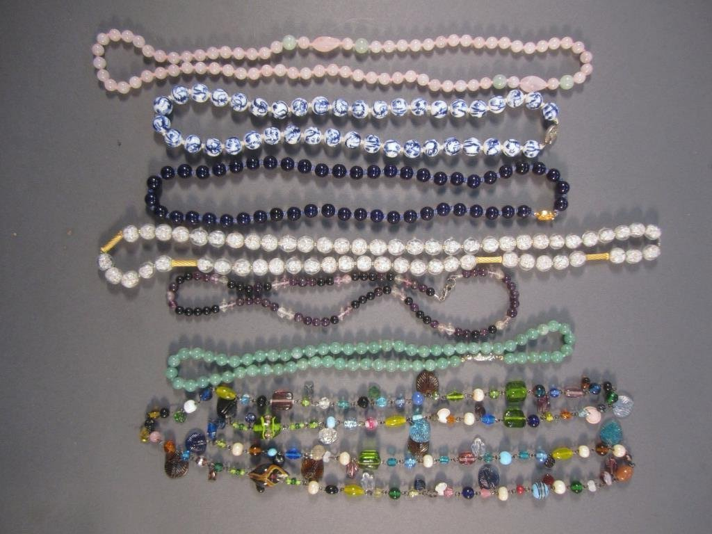 7 Assorted Bead Necklaces