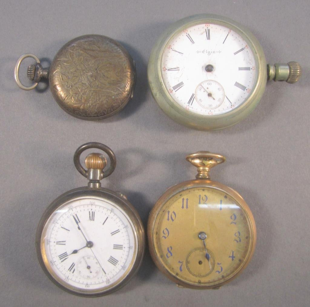 4 Assorted Pocket Watches