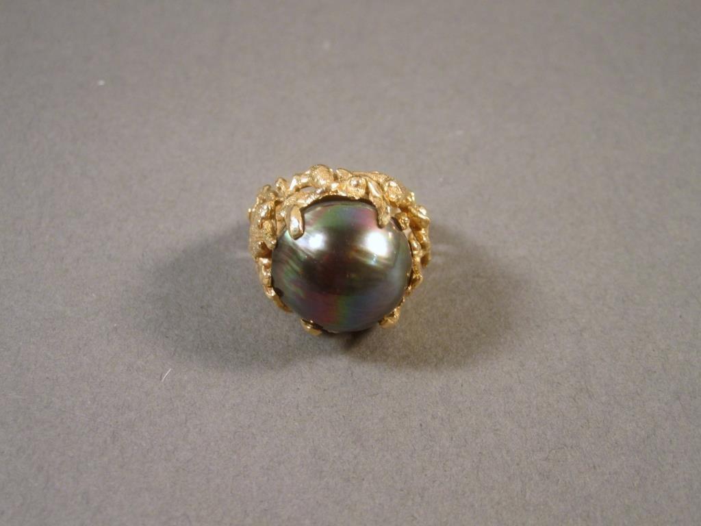 Largge 14K Gold Abstract Ring