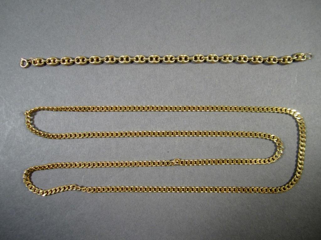 14K Gold Bracelet and Necklace