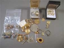 Assorted Gold Tone Costume Jewelry