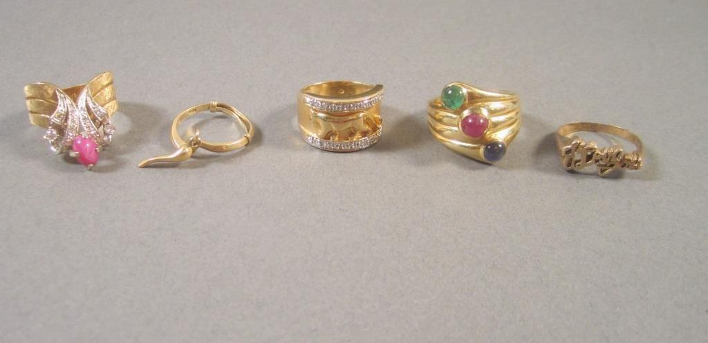 5 - 14K Gold Rings