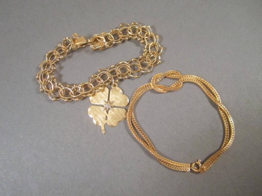 2 - 14K Gold bracelets