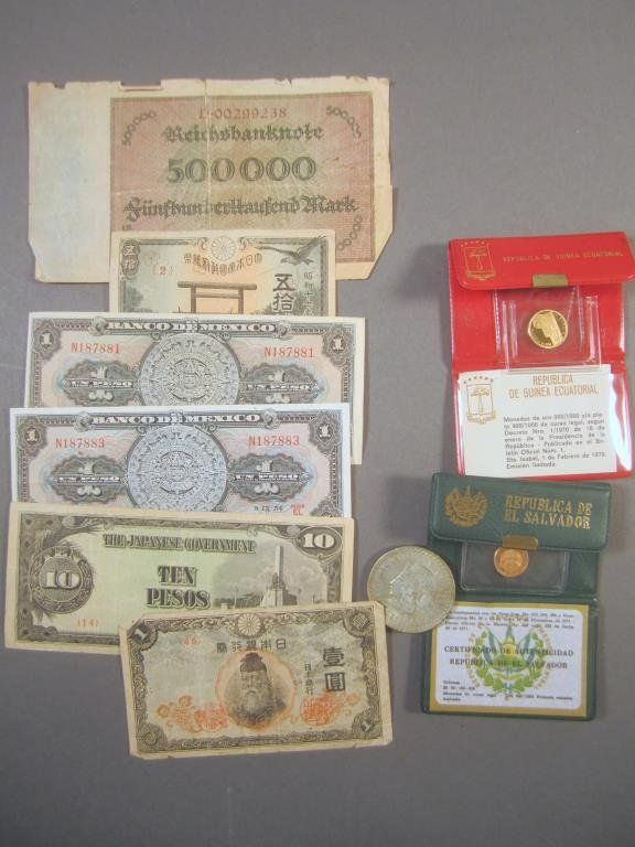 Assortment of Foreign Currency