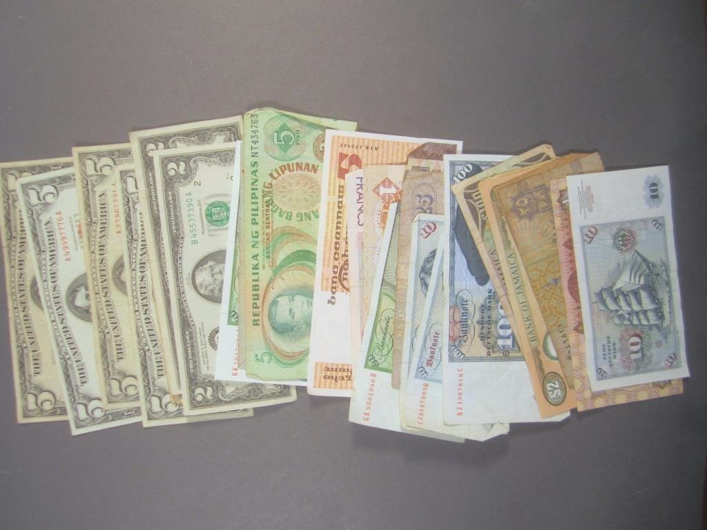 Assorted U.S. and Foreign Paper Currency