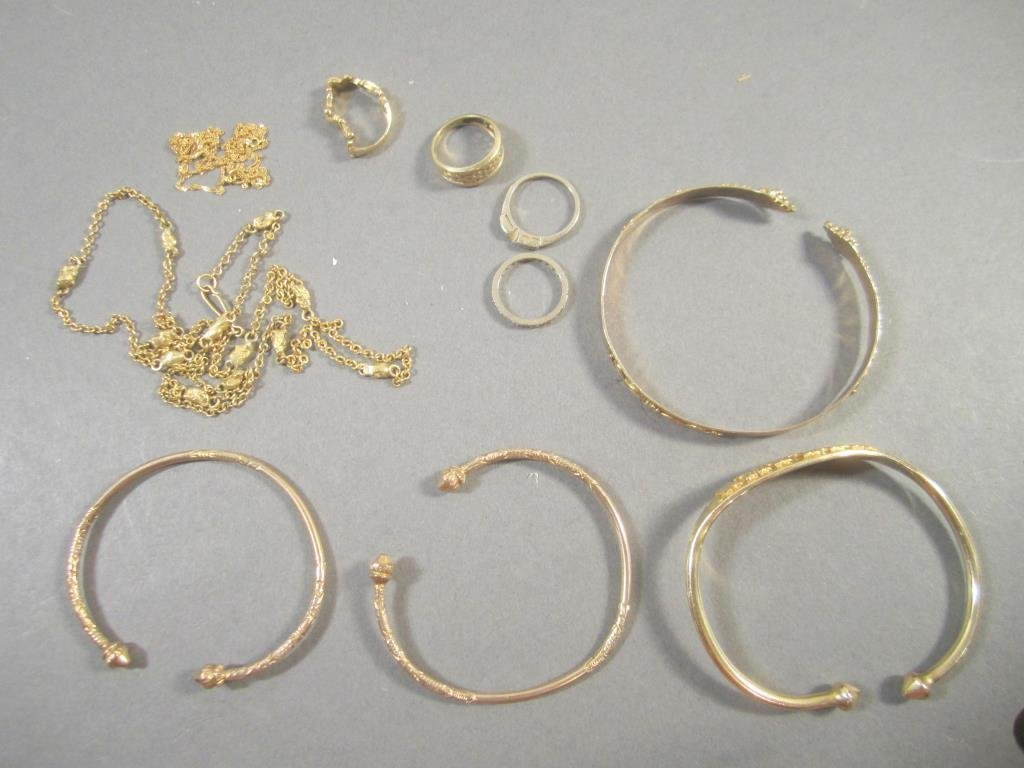 Assorted Gold Tone Jewelry