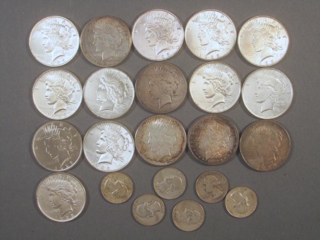 16 - 1920's Liberty Silver Dollars