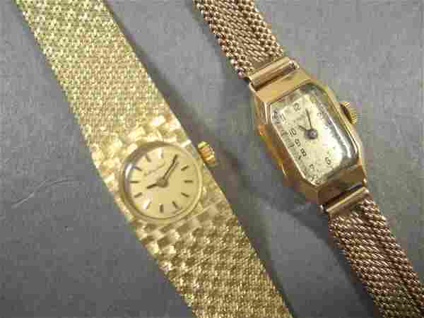 Two 14K Gold Watches