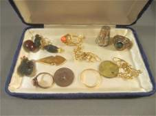 Assorted Costume and Low Grade Gold Jewelry