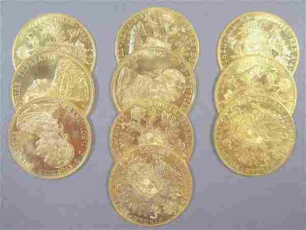 TEN - Franc 10S. I.D.G. Austriae Imperator Gold Coins