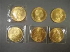 6 Franc 10S. I.D.G. Imp. Rex Gold Coins