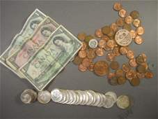 Assorted US Foreign and Faux Currency