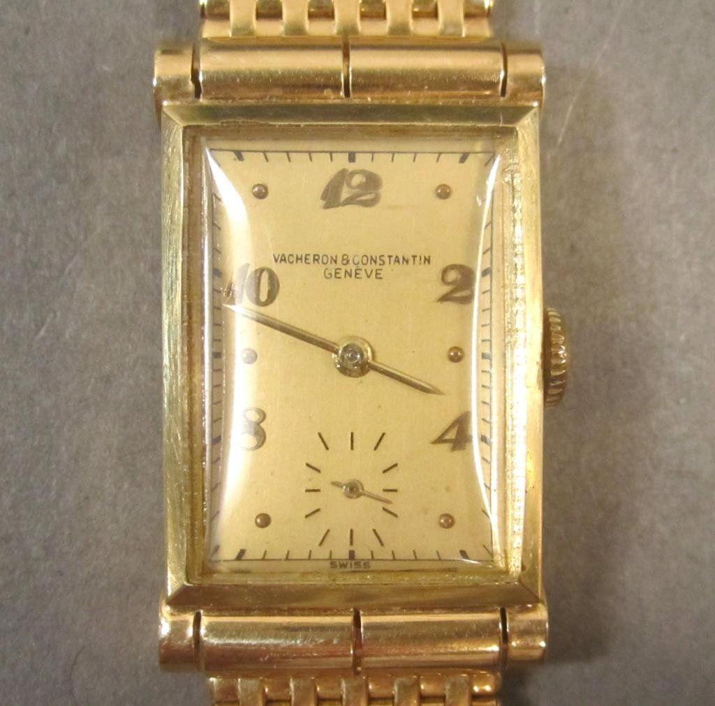 Vacheron & Constantin Men's 14K Gold Tank Watch