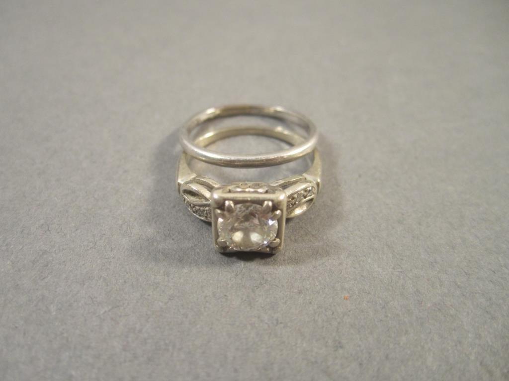 Diamond and Platinum 2-Piece Marriage Set