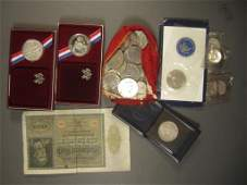 Assorted US and Foreign Currency & Medals