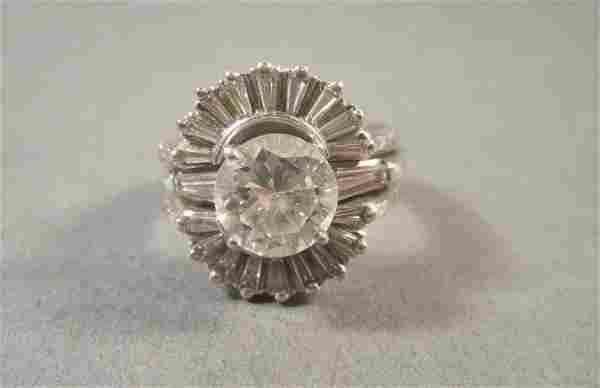Platinum and 14K Gold & Diamond Marriage Set