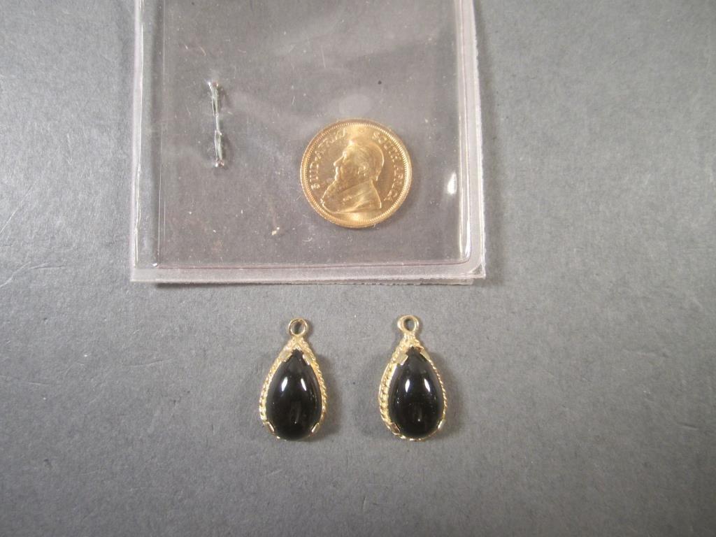 1/10 Krugerrand and Pair Earrings