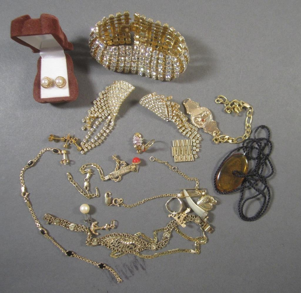 Assorted Gold and Costume Jewelry
