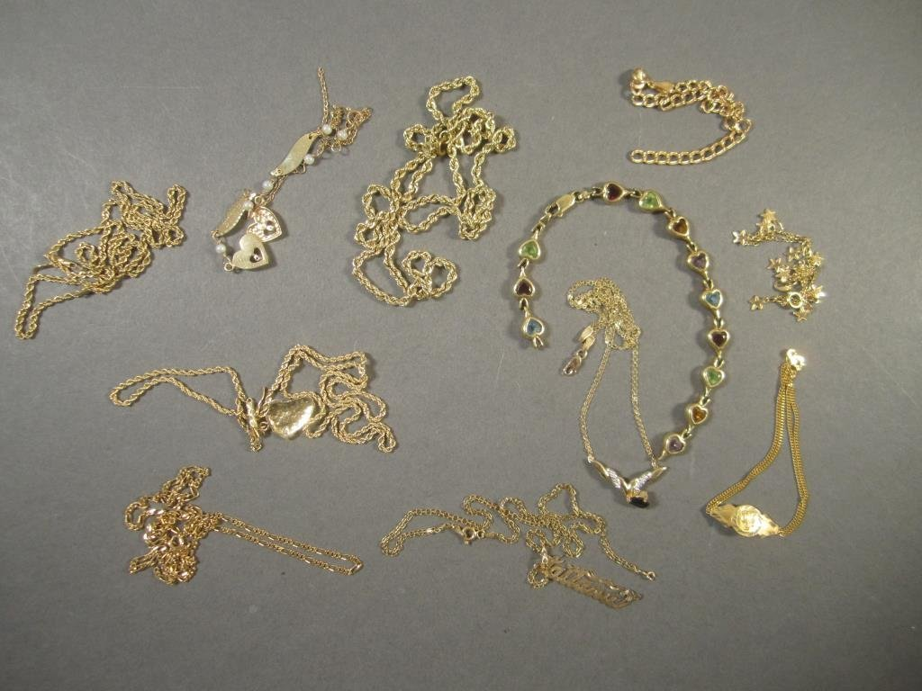 Assorted 14K Gold Chains and Bracelets