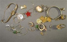 Assorted Costume and Gold Plated Jewelry