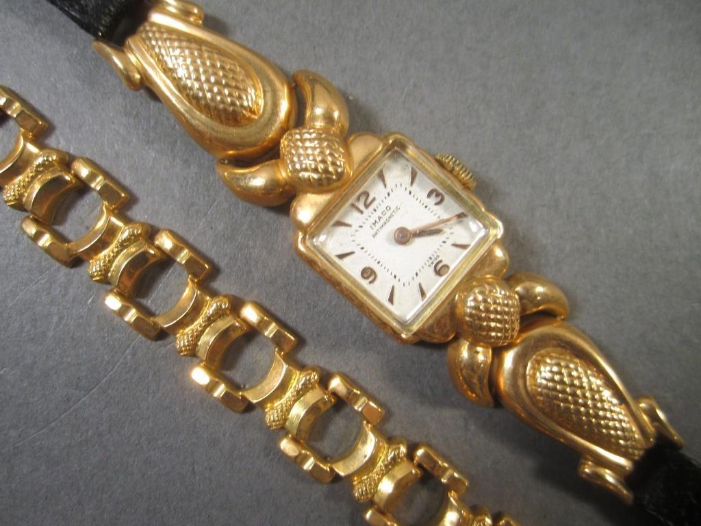 18K Gold Watch and 18K Gold Bracelet