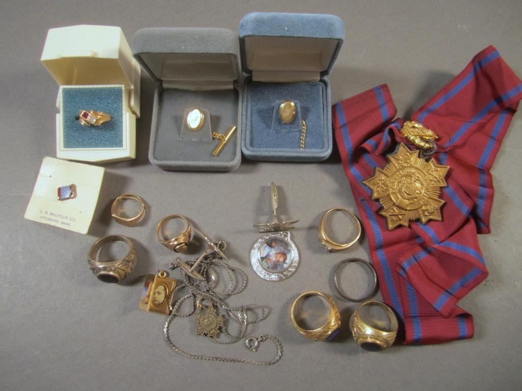 Assorted Gold and Plated Jewelry
