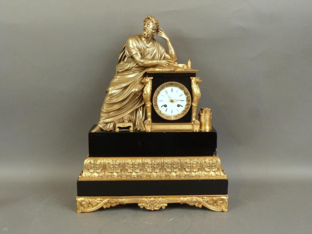Large French Figural Mantle Clock