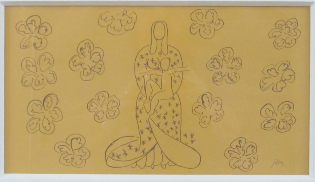 Initialed H. M. (Henri Matisse) - Print