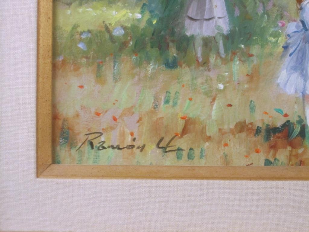 Signed Illegibly - Oil on Canvas - 3