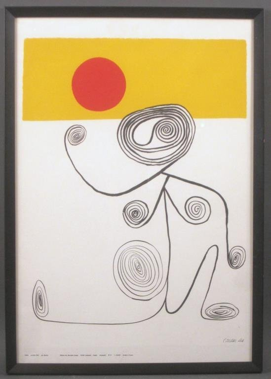 French Alexander Calder Poster