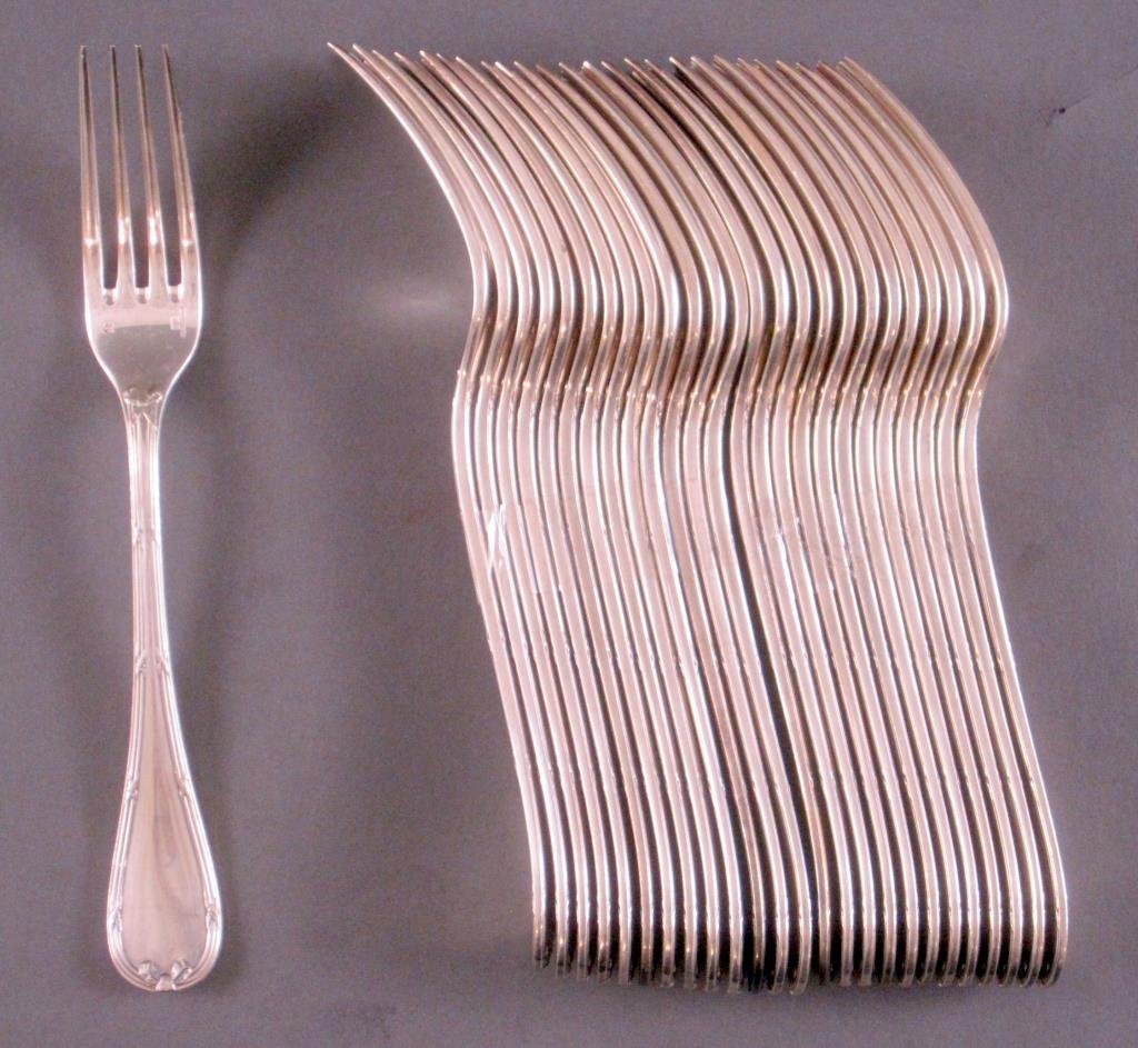 106 Piece Christofle Silver Plated Flatware Set - 6